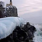 Split Rock Lighthouse Winter Poster