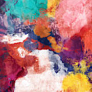 Spring Crush 3- Abstract Art By Linda Woods Poster