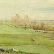 Spring Landscape With Light Green Fields Poster