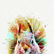 Squirrel Painting Poster