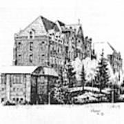 St Charles Hall Carroll College Helena Montana Poster
