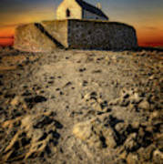 St Cwyfan Church Sunset Poster