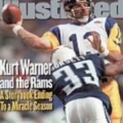 St. Louis Rams Qb Kurt Warner, Super Bowl Xxxiv Sports Illustrated Cover Poster