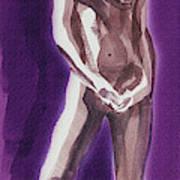 Standing Nude Model Gesture Xxxix Poster