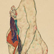 Standing Nude With A Patterned Robe, 1917  Poster