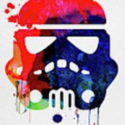 Starship Trooper Watercolor Cartoon Poster