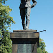 statue In memory of Gallant Soldier Lt. Col. George Elliott Bens Poster