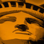 Statue Of Liberty In Orange Poster