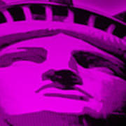 Statue Of Liberty In Purple Poster