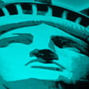 Statue Of Liberty In Turquois Poster