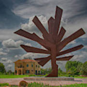 Steel Palm - Peace River Botanical And Sculpture Gardens Poster