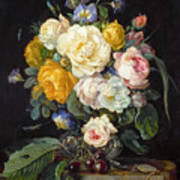 Still Life With Peonies  Poster