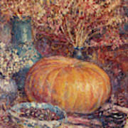 Still Life With Pumpkin Poster