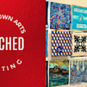 Stitched Quilting Exhibit Poster