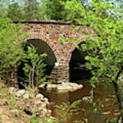Stone Bridge At The Eastern Entrance Of The Manassas Battlefield  Poster