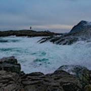 Storm At The Norwegian Coastline Poster