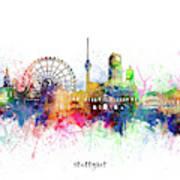 Stuttgart Skyline Artistic Poster