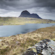 Suilven On A Stormy Day Poster
