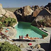 Sunbathing In Arizona Poster