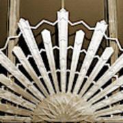 Sunburst Art Deco Sepia Poster