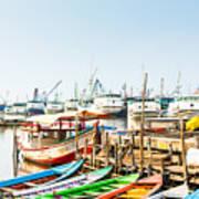 Sunda Kelapa Old Harbour  With Fishing Poster