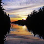 Sundown On The River Poster