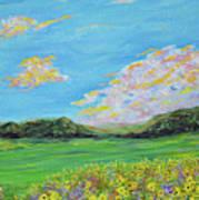 sunflower valley- Sunflower Art-Impressionism painting Poster