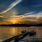 Sunrise Dog Lake Poster