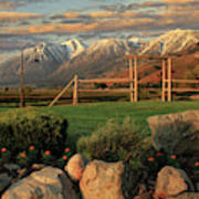 Sunrise In Carson Valley Poster