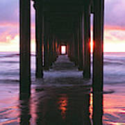 Sunrise Over The Pacific Ocean Seen Poster