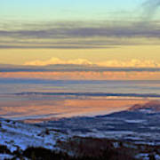 Sunrise View Across Cook Inlet From Above Anchorage Alaska Poster