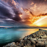 Sunset In Nafplio Poster