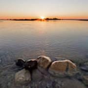 Sunset Over Platte River Poster