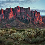 Superstition Mountains Colors Poster
