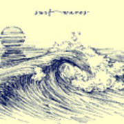 Surf Waves. Sea Waves Graphic. Ocean Poster