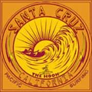 Surfing Santa Cruz California Steamer Lane Poster