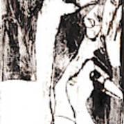 Swans After Mikhail Larionov Black Oil Painting 5 Poster