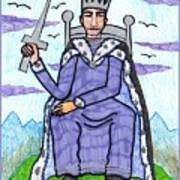 Tarot Of The Younger Self King Of Swords Poster