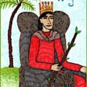 Tarot Of The Younger Self King Of Wands Poster