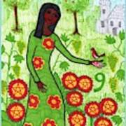 Tarot Of The Younger Self Nine Of Pentacles Poster