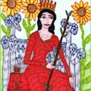 Tarot Of The Younger Self Queen Of Wands Poster