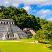 Temple Of The Inscriptions, Palenque Poster