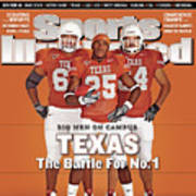 Texas Jamaal Charles, Justin Blalock, And Kasey Studdard Sports Illustrated Cover Poster