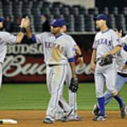 Texas Rangers V New York Yankees, Game 4 Poster