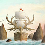 The Antlered Ship Poster