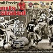 The Best Game Ever 1958 Colts Vs. Giants Sports Illustrated Cover Poster