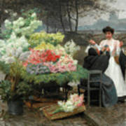 The Flower Vendor On The Quays In Paris Poster