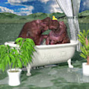 The Hippo Tub Poster