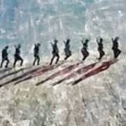 The Long Walk, World War Two Poster