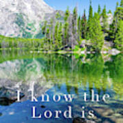 The Lord Is With Me Poster
